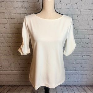 NWT Ruched Sleeve Ann Taylor Top